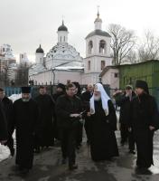 В 33-ю годовщину своей архиерейской хиротонии Святейший Патриарх Кирилл совершил Божественную литургию в храме Троицы Живоначальной в Хорошеве