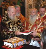 В праздник Воздвижения Креста Господня Святейший Патриарх Алексий совершил Божественную литургию и хиротонию архимандрита Маркелла (Ветрова) в Казанском соборе Санкт-Петербурга