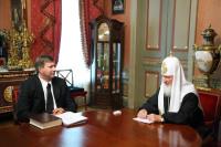Предстоятель Русской Православной Церкви встретился с министром юстиции Российской Федерации А.В. Коноваловым