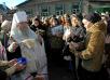 Панихида на 40-й день по погибшим в результате взрыва бытового газа в одном из районов Днепропетровска