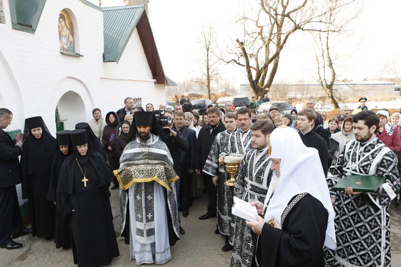Служение Святейшего Патриарха Кирилла в Великий вторник