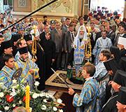 Слово Святейшего Патриарха Кирилла в Никольском кафедральном соборе города Горловки