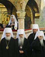 В Успенском Патриаршем соборе совершен молебен по случаю 90-летия восстановления Патриаршества в Русской Православной Церкви