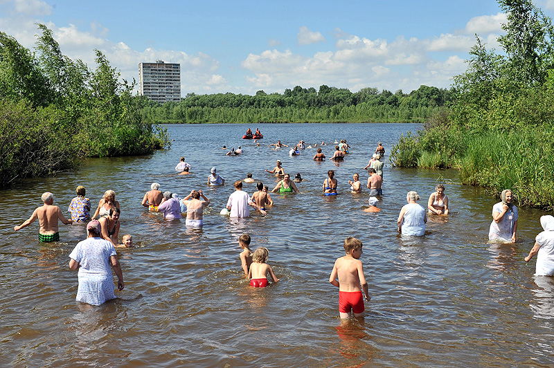 Минет в озере