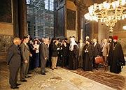 Святейший Патриарх Кирилл посетил собор Святой Софии в Константинополе