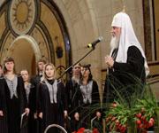 Предстоятель Русской Православной Церкви открыл Хоровую программу VIII Московского Пасхального фестиваля