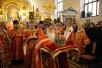 Патриарший визит в Санкт-Петербургскую епархию. День второй. Божественная литургия в домовом храме Санкт-Петербургской духовной академии.