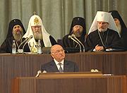 Выступление мэра Москвы Ю.М. Лужкова на открытии XV Рождественских чтений
