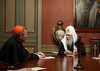 Святейший Патриарх Алексий встретился с кардиналом Вальтером Каспером