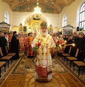 Святейший Патриарх Кирилл совершил Божественную литургию в домовом храме Санкт-Петербургской духовной академии