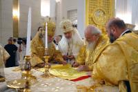 Предстоятель Русской Церкви совершил чин Великого освящения нового кафедрального собора Калининграда