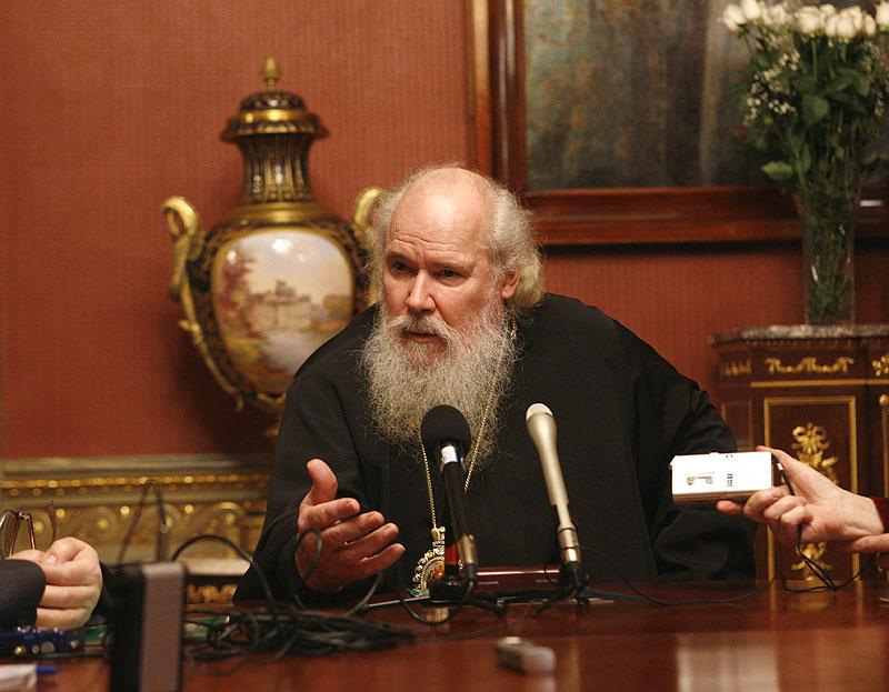Встреча Святейшего Патриарха Алексия с корреспондентами российских и зарубежных СМИ