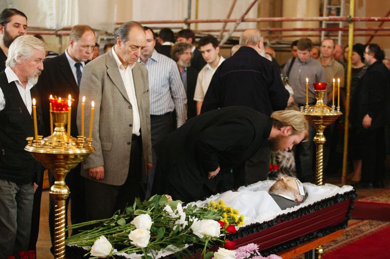 Отпевание профессора Московской духовной академии М.М. Дунаева ...