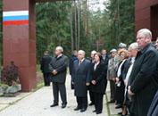 Президент Польши Лех Качиньский посетил Смоленск и мемориальный комплекс «Катынь»