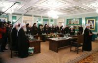 В Свято-Даниловом монастыре проходит последнее перед Поместным Собором заседание Священного Синода Русской Православной Церкви