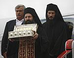 В Москву доставлены частица Животворящего Креста Господня и честная рука святой равноапостольной Марии Магдалины