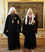 Предстоятель Русской Православной Церкви встретился с Блаженнейшим Митрополитом всей Америки и Канады Ионой