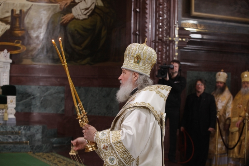 Интронизация Патриарха Московского и всея Руси Кирилла