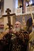 Патриарший визит в Санкт-Петербург. Всенощное бдение в Новодевичьем монастыре.