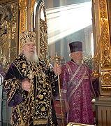 В день памяти св. Алексия, Человека Божия, Предстоятель Русской Церкви совершил Божественную литургию в храме Тихвинской иконы Божией Матери в Алексеевском