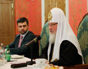 Святейший Патриарх Кирилл встретился с руководителями православных печатных СМИ