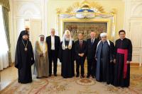 Святейший Патриарх Кирилл и участники Группы высокого уровня по межрелигиозному диалогу встретились с Генеральным директором ЮНЕСКО
