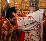Святейший Патриарх Кирилл возвел председателя Отдела внешних церковных связей епископа Волоколамского Илариона в сан архиепископа