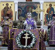 В праздник Воздвижения Честного и Животворящего Креста Господня Святейший Патриарх Кирилл совершил Божественную литургию в Полоцком Спасо-Евфросиниевском монастыре