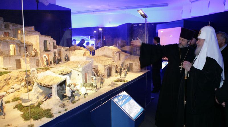 Посещение Патриархом выставки «Вертеп. Итальянская рождественская традиция»