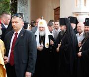 Святейший Патриарх Кирилл прибыл в Корецкий монастырь