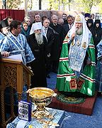 Патриаршее слово после освящения закладного камня в основание часовни в честь Тихвинской иконы Божией Матери в Кронштадте
