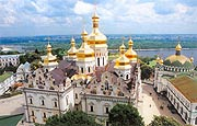 В канун дня памяти святого князя Владимира Святейший Патриарх Кирилл совершил всенощное бдение в Киево-Печерской лавре