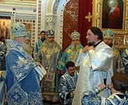 В праздник Сретения Господня Святейший Патриарх Алексий совершил Божественную литургию и хиротонию архимандрита Сергия (Чашина) во епископа Уссурийского