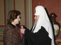 Святейший Патриарх Алексий впервые вручил орден прп. Евфросинии Московской