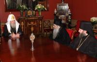 Святейший Патриарх Алексий принял делегацию Сербской Церкви