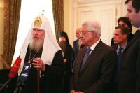 Святейший Патриарх Алексий встретился с Главой Палестинской национальной администрации Махмудом Аббасом