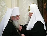 В День тезоименитства Святейшего Патриарха Алексия ряд архиереев Русской Православной Церкви удостоились церковных наград