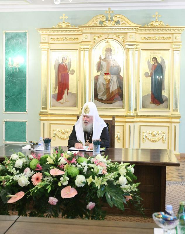 Освящение Синодальной резиденции в Свято-Даниловом монастыре. Заседание Священного Синода 6 октября 2008 года.