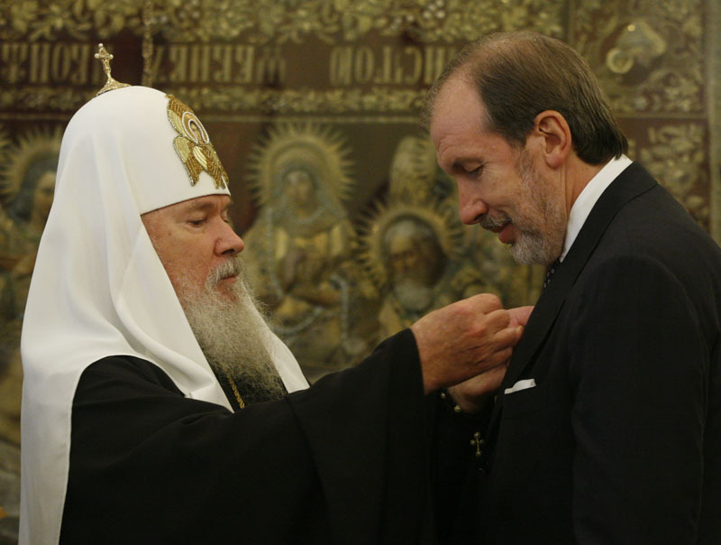 Церемония возвращения исторической звонницы Свято-Данилова монастыря
