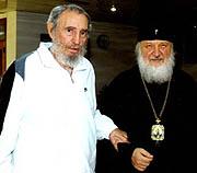 Митрополит Кирилл встретился с Фиделем Кастро