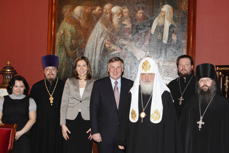 Встреча Святейшего Патриарха Кирилла с послом Канады в России
