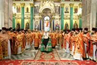 Святейший Патриарх Кирилл совершил Божественную литургию в Исаакиевском соборе Санкт-Петербурга