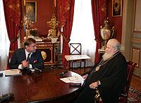 Святейший Патриарх Алексий II: 'Точки соприкосновения с Ватиканом есть'