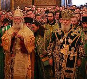 В день памяти преподобного Сергия Радонежского Предстоятели Александрийской и Русской Православных Церквей совершили совместное богослужение в Троице-Сергиевой лавре