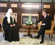 Состоялась встреча Святейшего Патриарха Кирилла с Президентом Украины В.А. Ющенко