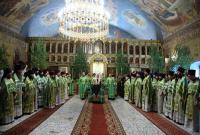 В день Святого Духа Предстоятель Русской Церкви совершил Божественную литургию в домовом храме Московской духовной академии