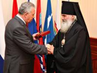 Архиепископ Владивостокский и Приморский Вениамин награжден орденом «За заслуги перед Отечеством»