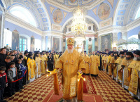 Слово Святейшего Патриарха Кирилла после Божественной литургии в Спасо-Яковлевском Димитриевом монастыре