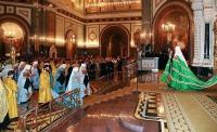Торжества, посвященные 90-летию восстановления Патриаршества в Русской Церкви, начались с Патриаршего богослужения в Храме Христа Спасителя