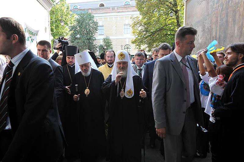 Патриарший визит на Украину. День первый. Всенощное бдение в Киево-Печерской лавре.
